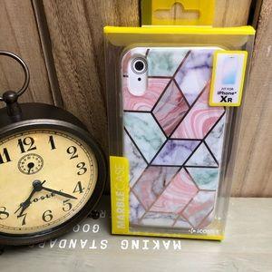 iPhone XR Phone Case - Geo Marble Print
